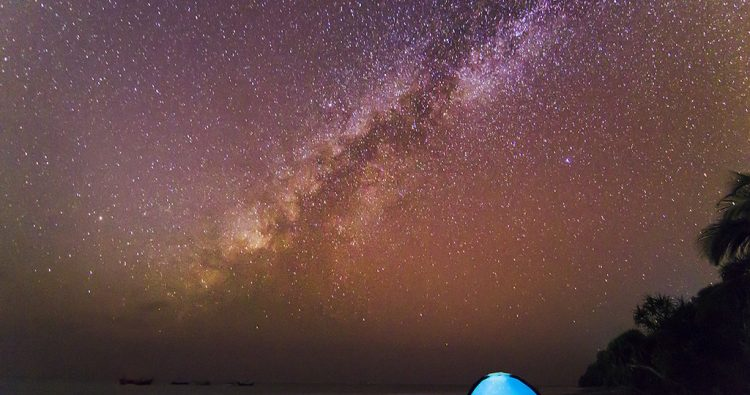 Milky way from St. Martin in 2014